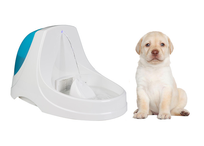 BPA Free Plastic Quiet Pet Water Fountain DC 5V 300mA 1.5m Power Cord